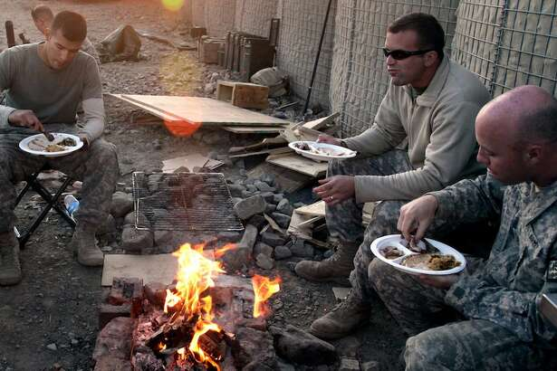 See how America's troops celebrate Thanksgiving.