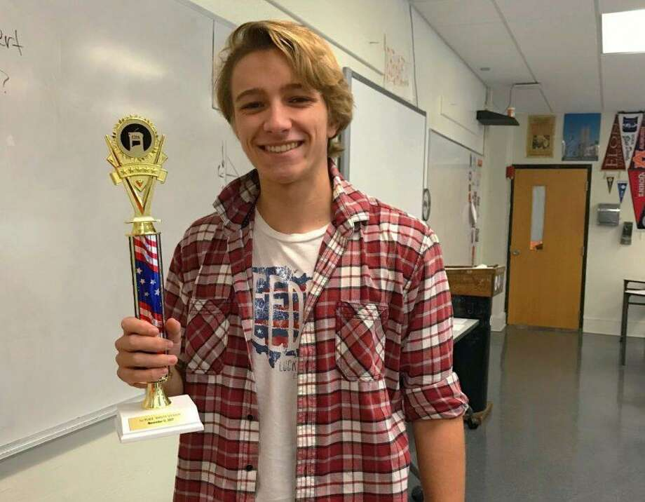 Stamford High senior Augustus Doricko recently received first speaker at the November Connecticut Debate Association Tournament. Photo: Isabella Sorial / Contributed Photo