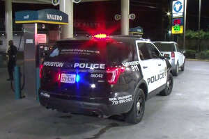 A man is in the hospital after he was found shot at a Valero.