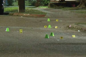One man was shot in the head in a drive-by outside a convenient store.