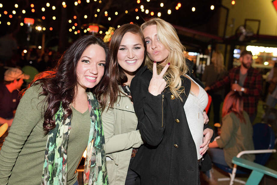 "Holiday fun kicked off at the ""Thanksgiving Eve Reunion Party"" at Little Woodrow's in Stone Oak on Wednesday, Nov. 22, 2017.  The bash doubled as a reunion for those ""home for the holidays"" and had turkey bowling, drink specials and live music all night into Turkey Day. Photo: B. Kay Richter, For MySA.com"
