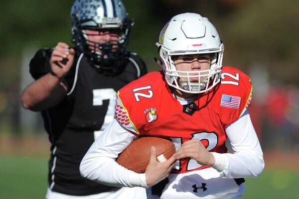 Photos from Greenwich's 31-14 win over Staples in the Thanksgiving Day high school football game at Staples High School in Westport, Conn. Thursday, Nov. 23, 2017.