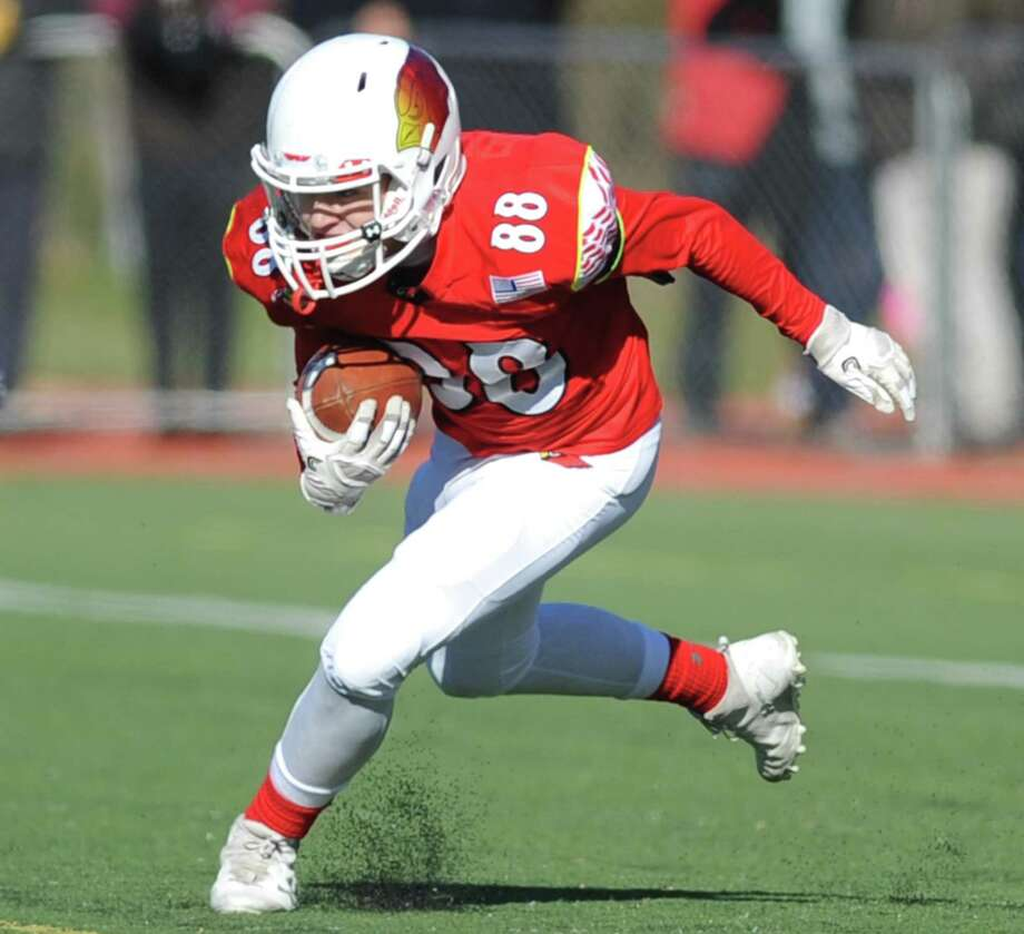 Photos from Greenwich's 31-14 win over Staples in the Thanksgiving Day high school football game at Staples High School in Westport, Conn. Thursday, Nov. 23, 2017. Photo: Tyler Sizemore / Hearst Connecticut Media / Greenwich Time