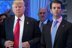 President-elect Donald Trump and Donald Trump Jr. at a news conference at Trump Tower in New York on Jan. 11.