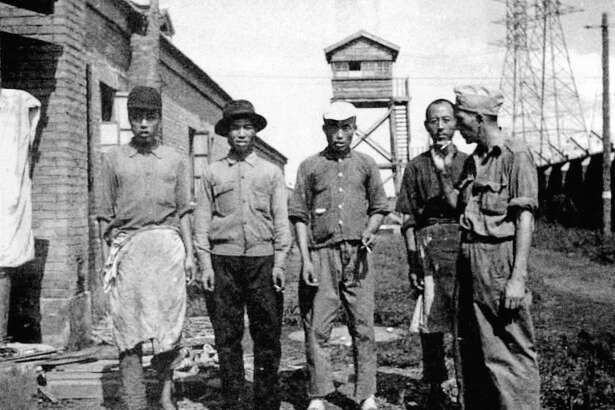 After the liberation of the Mukden POW Camp in Manchuria in August 1945, a group of Chinese chefs came in to cook for the surviving 1,300 Allied prisoners.