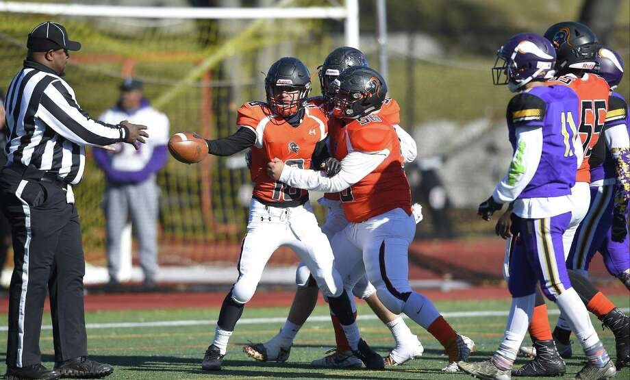 Stamford defeated Westhill 26-14 Thanksgiving Day to win the city football championship at Westhill High School in Stamford, Conn. on Thursday, Nov. 23, 2017. Photo: Matthew Brown / Hearst Connecticut Media / Stamford Advocate
