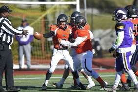 Stamford defeated Westhill 26-14 Thanksgiving Day to win the city football championship at Westhill High School in Stamford, Conn. on Thursday, Nov. 23, 2017.