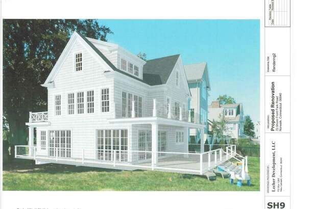 A 0.14 to 0.24 acre lot is for sale for $700,000 in Norwalk's Shorefront Park neighborhood. These renderings show what could be built on the tiny lot, which is one of the last buildable pieces of shorefront property in Fairfield County.