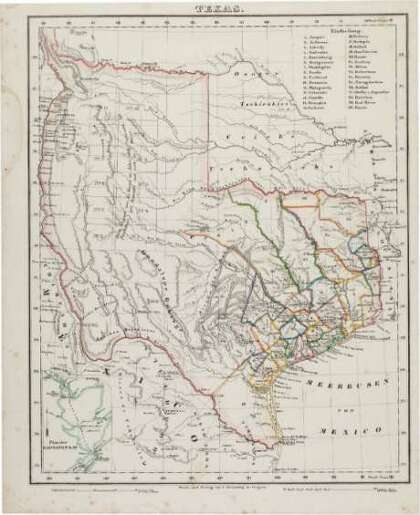 After 173 Years Historic Republic Of Texas Map Back In Official