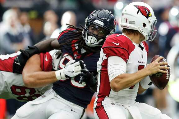 The contract extension for Texans linebacker Jadeveon Clowney (90) could exceed the six-year, $114.1 million contract of the Broncos' Von Miller.  $70 million of Miller's deal in guaranteed.