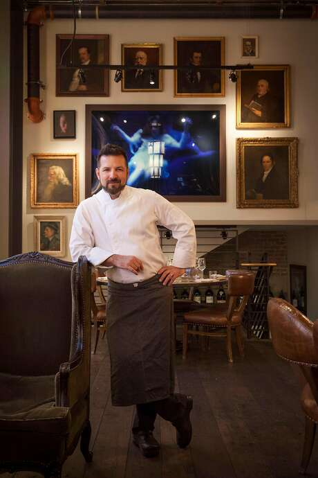 Nicolai Lipscomb, executive chef, in the club's Living Room. Photo: Peter DaSilva, Special To The Chronicle