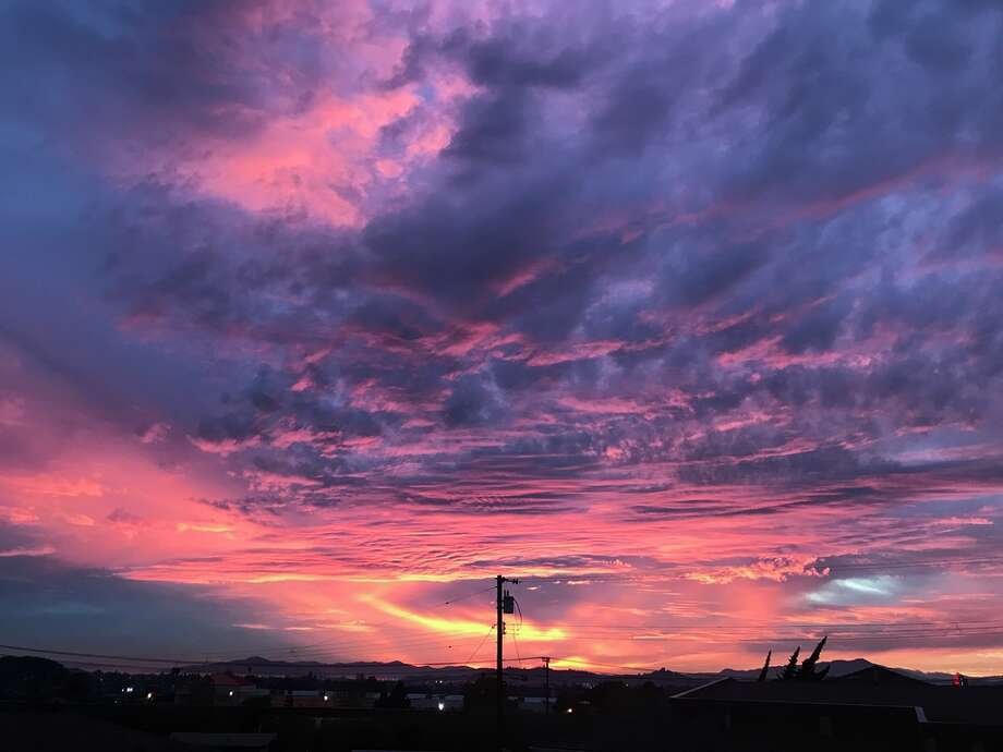 A spectacular sunset colored the Bay Area sky crimson and orange on Thanksgiving evening, Nov. 23, 2017. SFGATE readers shared their best photos. Photo: Brandon Mercer/SFGATE