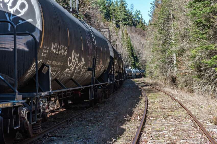 More DOT-111s line the tracks in the Adirondacks.