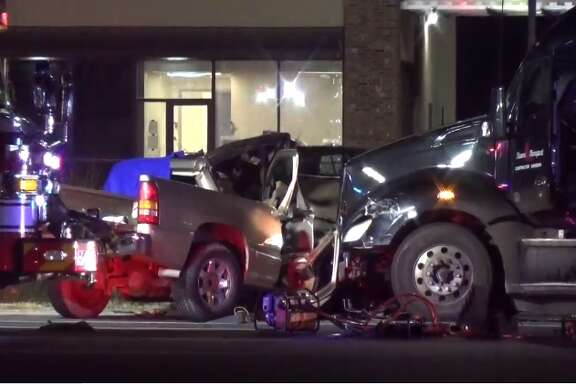 A man was killed early Friday after police say an 18-wheeler truck ran a red light and hit his vehicle in Humble. Officers were dispatched to F.M. 1960 near Kenswick Drive around 12:45 a.m., where the victim's car had been t-boned by a truck that ran a stop light and hit two cars.