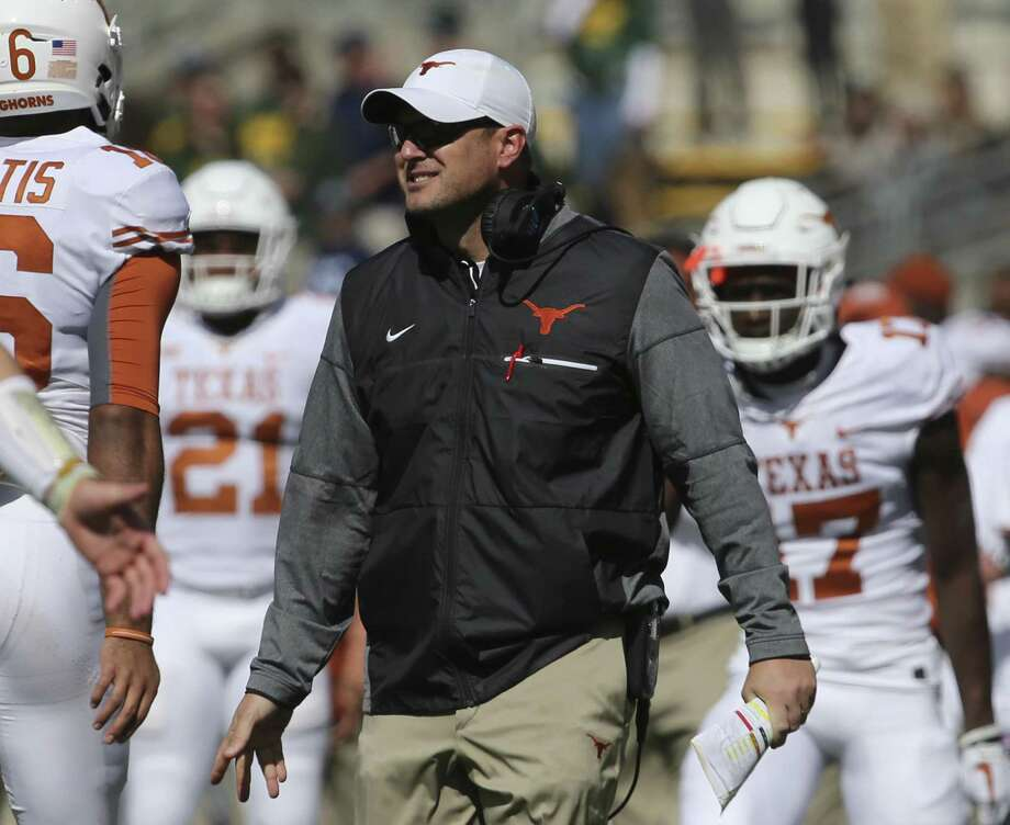 Texas coach Tom Herman has talked to his players about leaving a positive legacy with today's finale and the bowl. Photo: Rod Aydelotte /Associated Press / FRE36102 AP