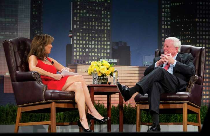 """Janet Shamlian interviews Rich Kinder during the MD Anderson's """"A Conversation With a Living Legend."""""""