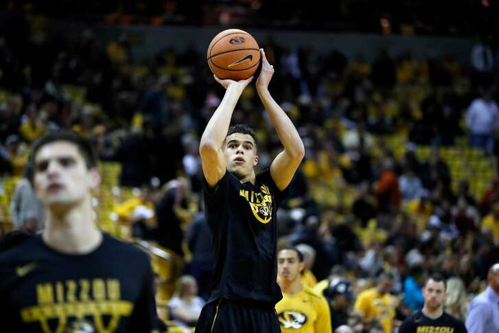 Missouri's Michael Porter Jr. warms up before the start of a game between Missouri and Iowa State on Nov. 10, 2017, in Columbia, Mo.
