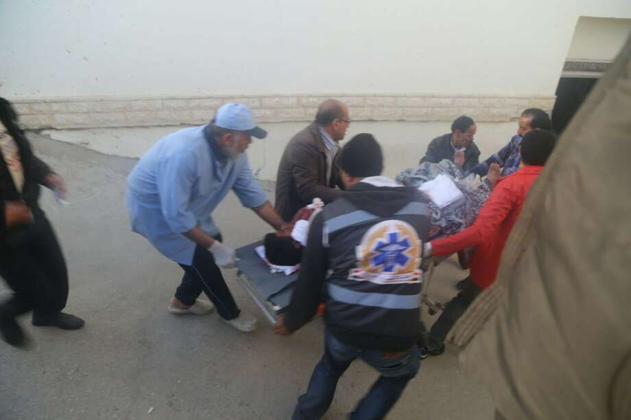 Wounded people are taken to the hospital after the Egypt Sinai mosque bombing in Al-Arish, Egypt on November 24, 2017. The death toll from a bomb that went off outside a mosque in the city of Al-Arish in the northern Sinai Peninsula following Friday prayers has climbed to a whopping 235, according to official sources. At least 109 others were injured in the blast, which occurred in the citys Al-Rawda neighborhood. Photo: Anadolu Agency/Getty Images