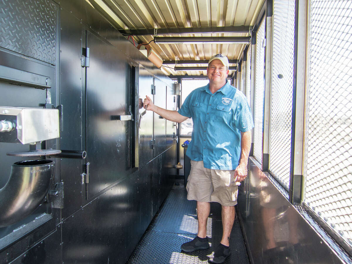 Pitmaster John Brotherton of Brotherton's Black Iron Barbeccue in Pflugerville.