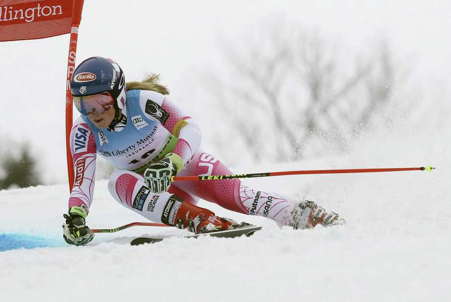 FILE - In this Nov. 26, 2016 file photo, Mikaela Shiffrin, of the United States, competes during the women's FIS Alpine Skiing World Cup giant slalom race in Killington, Vt. The World Cup is returning to Killington in 2017 on Thanksgiving weekend. (AP Photo/Charles Krupa, File) Photo: Charles Krupa / Associated Press / Copyright 2016 The Associated Press. All rights reserved.