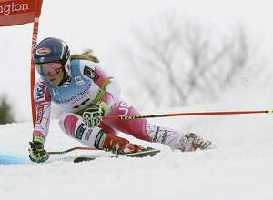 FILE - In this Nov. 26, 2016 file photo, Mikaela Shiffrin, of the United States, competes during the women's FIS Alpine Skiing World Cup giant slalom race in Killington, Vt. The World Cup is returning to Killington in 2017 on Thanksgiving weekend. (AP Photo/Charles Krupa, File)