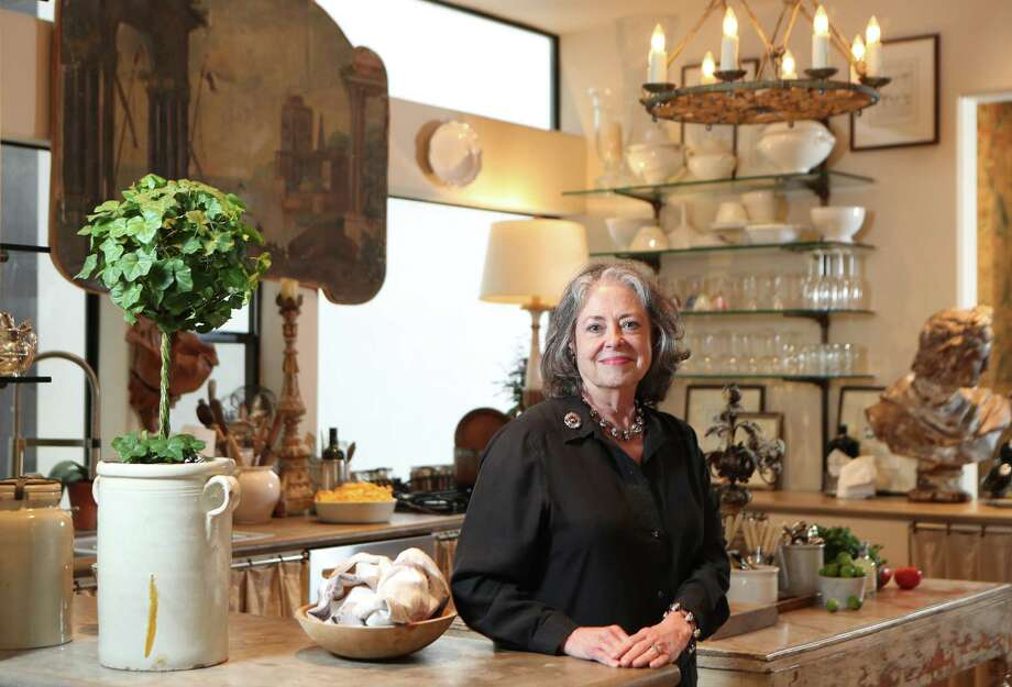 Donna Brown has filled her home above her antiques store, The Gray Door, with unique pieces, each with a story or experience attached. Photo: Steve Gonzales, Houston Chronicle / © 2017 Houston Chronicle