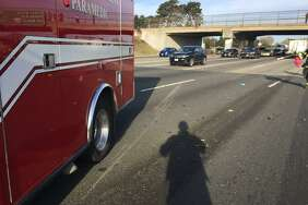 The driver of a semi-trailer was ejected from his vehicle after hitting a pillar at an overpass on Interstate 80 in Berkeley, officials said.