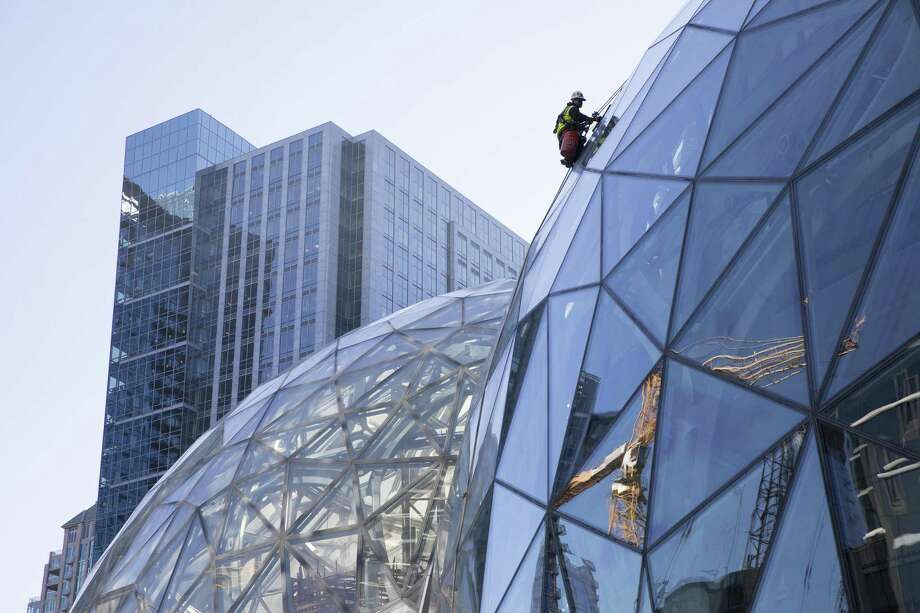 FILE -- Large spheres in front of Amazon's building in Seattle, Sept. 27, 2017. Amazon said in October it had received proposals from 238 cities and regions across North America that are vying for its new, second headquarters, called HQ2. (Ruth Fremson/The New York Times) Photo: RUTH FREMSON / NYT / NYTNS