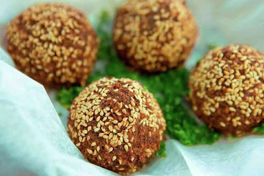 Falafel patties are made from garbanzo beans, spiced and either grilled or fried until golden.  Photo: Sono Falafel, Contributed