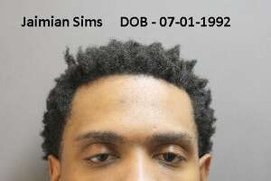 Jaimian Sims is charged in connection with trafficking and prostitution of a minor.  Mugshot released by Harris County Constable's office