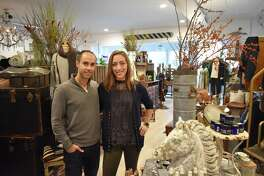 Yaniv and Danielle Ben-David on Wednesday, Nov. 22, 2017, at The Collected Home on Rowayton Avenue in Norwalk, Conn., among the first retail outlets for their Basic Naturals line of salves, moisturizers, lip balms and other personal products.
