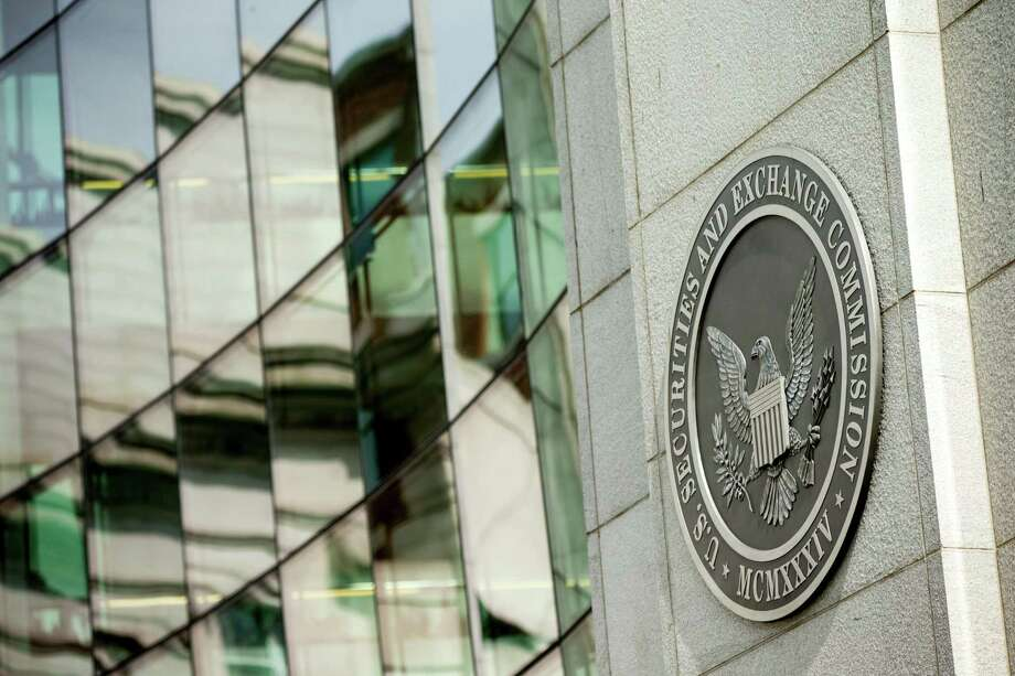 The U.S. Securities and Exchange Commission building, in Washington. SEC penalties fell 15.5 percent to $3.5 billion this fiscal year compared to 2016, according to data compiled by Georgetown University law professor Urska Velikonja. Photo: Associated Press File Photo / Copyright 2016 The Associated Press. All rights reserved.