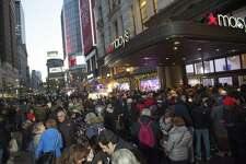 Macy's Herald Square flagship opens its doors at 5 p.m. on Thanksgiving Day for thousands of early Black Friday in New York. On Friday, Macy's Inc. was struggling to process credit cards in its stores, a painful setback as the retailer kicks off the holiday season.