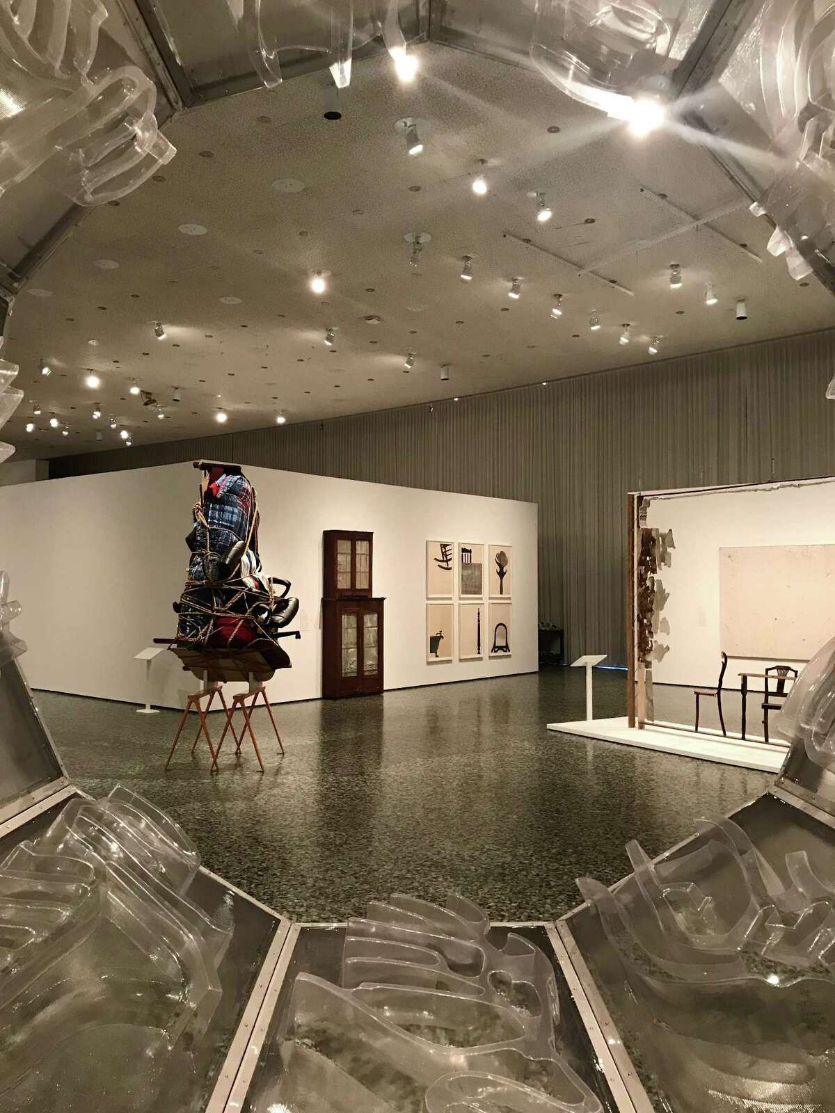 """A view of """"Home: So Different, So Appealing"""" fromDaniel Joseph Martinez's """"The west bank is missing: i am not dead, am i.""""The major exhibition of works by Latin American artists is on view at the Museum of Fine Arts, Houston."""