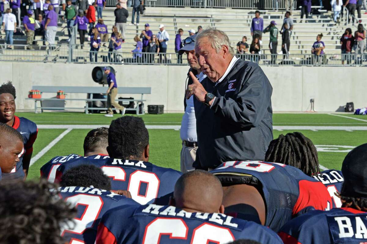 PHOTOS: Lamar High School's Tom Nolen through the years Lamar Head Coach Tom Nolen talks to his team following their 36-29 win in a 6A-III area playoff football game against the Ridge Point Panthers on November 23, 2017 at Legacy Stadium, Katy, TX. Browse through the photos above for a look at Tom Nolen through the years.