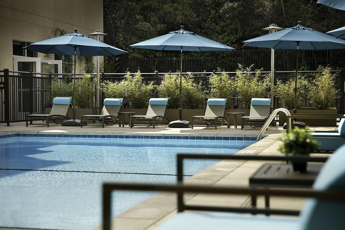 The swimming pool at the new Hyatt in Santa Cruz.