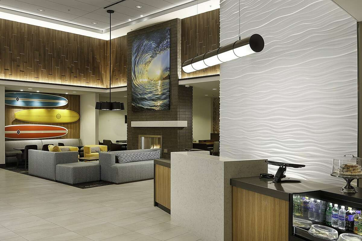 The lobby of the new Hyatt in Santa Cruz.