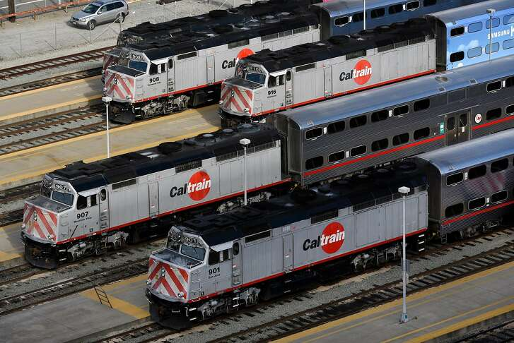 Trains are seen at the Caltrain yard at 4th and Townsend Streets in San Francisco, CA, on Friday November 24, 2017.