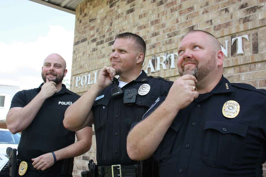 Roman Forest Police Department participated in No Shave November to raise awareness and raise funds to battle cancer. Pictured left to right are Capt. Dimitri Jasonis, Officer Brian Smith and Chief Stephen Carlisle. Photo: Vanesa Brashier