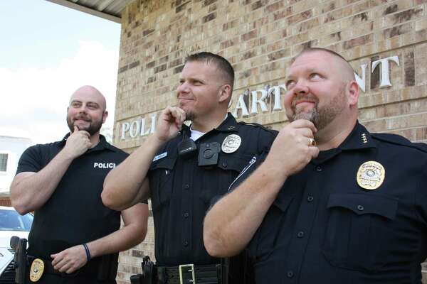 Roman Forest Police Department participated in No Shave November to raise awareness and raise funds to battle cancer. Pictured left to right are Capt. Dimitri Jasonis, Officer Brian Smith and Chief Stephen Carlisle.