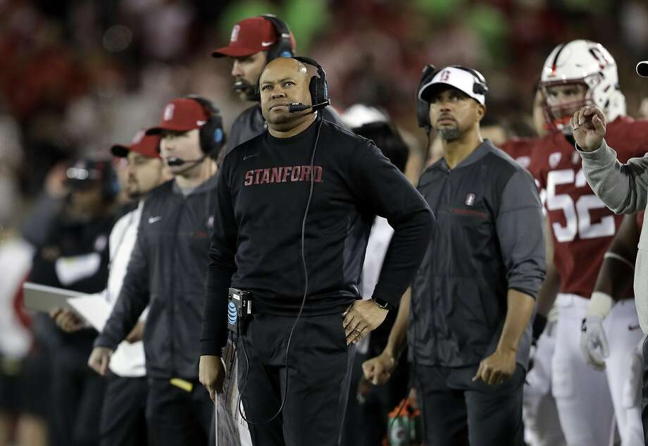 In this Saturday, Nov. 18, 2017, file photo, Stanford head coach David Shaw watches during the first half of an NCAA college football game against California in Stanford, Calif. Photo: Marcio Jose Sanchez, Associated Press