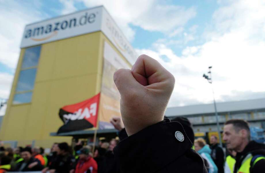 European workers revolt on Amazon's big day
