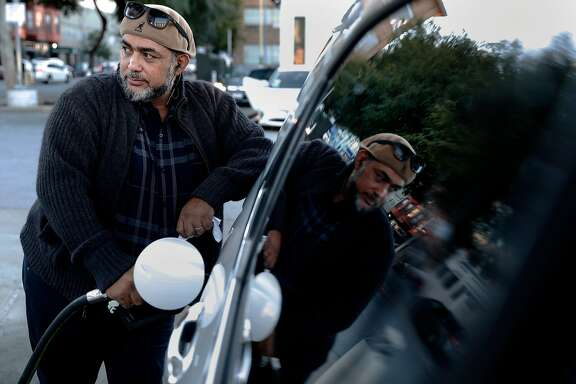 Mike Mohamed Erakat, was a San Francisco taxi driver for 20 years but now drives for Lyft, in San Francisco, Ca., as seen on Friday Nov. 17, 2017. Erakat was provided with a month's rent from Season of Sharing after having a heart attack and unable to drive for Lyft.
