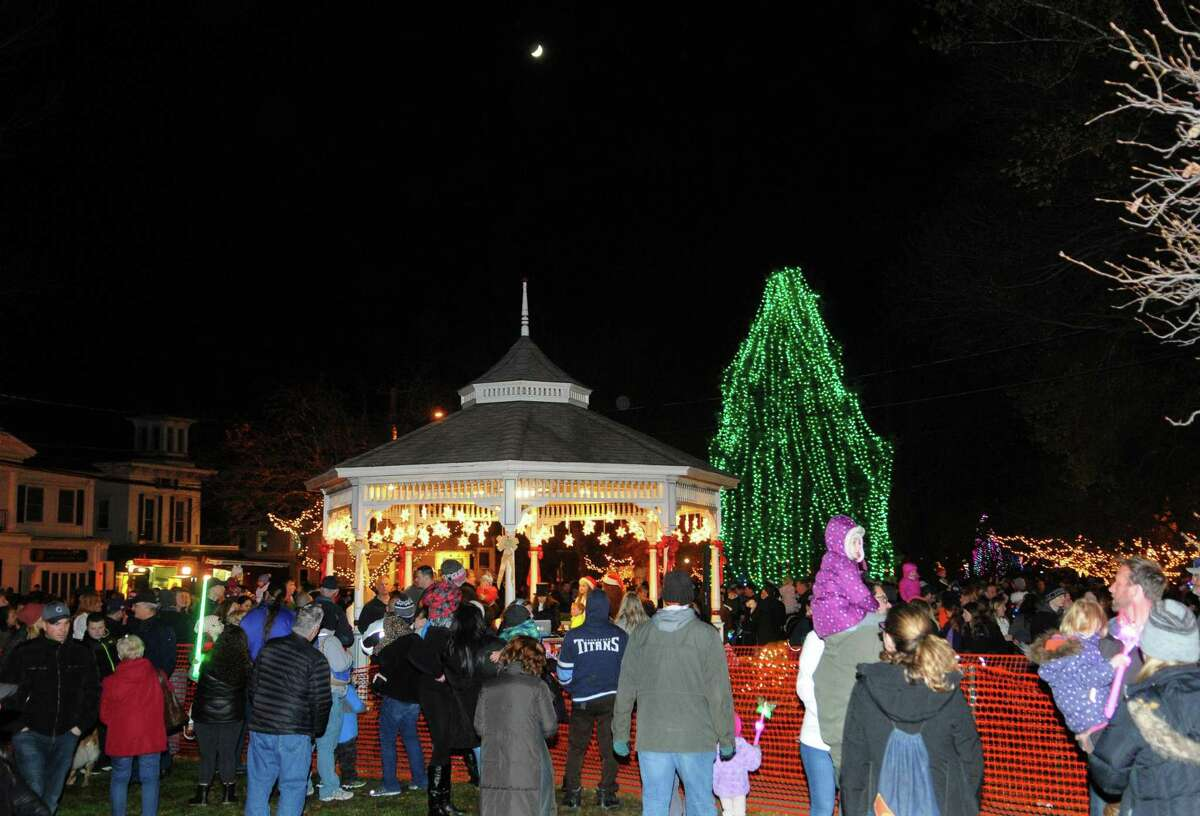 The Annual Tree Lighting and visit by Santa Claus on the Milford Green in Milford, Conn. on Friday Nov. 24, 2017.