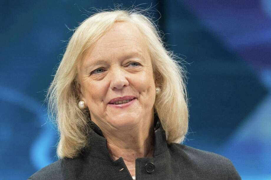 Meg Whitman, chief executive officer of Hewlett Packard Enterprise Co., speaks during the HP Discover 2016 Conference in Las Vegas, Nevada, on Wednesday, June 8, 2016. MUST CREDIT: Bloomberg photo by Jacob Kepler. Photo: Jacob Kepler, Stringer / © 2016 Bloomberg Finance LP