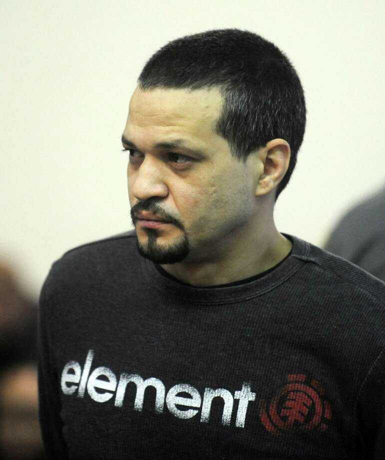 Anthony Espinal appears before Superior Court Judge Robin Pavia Wednesday, Dec. 24, 2014, in Bridgeport, Conn. Espinal was arraigned on murder charges for Thursday night's fatal stabbing of Bryant Kelly on Route 8. Photo: Autumn Driscoll / Autumn Driscoll / Connecticut Post