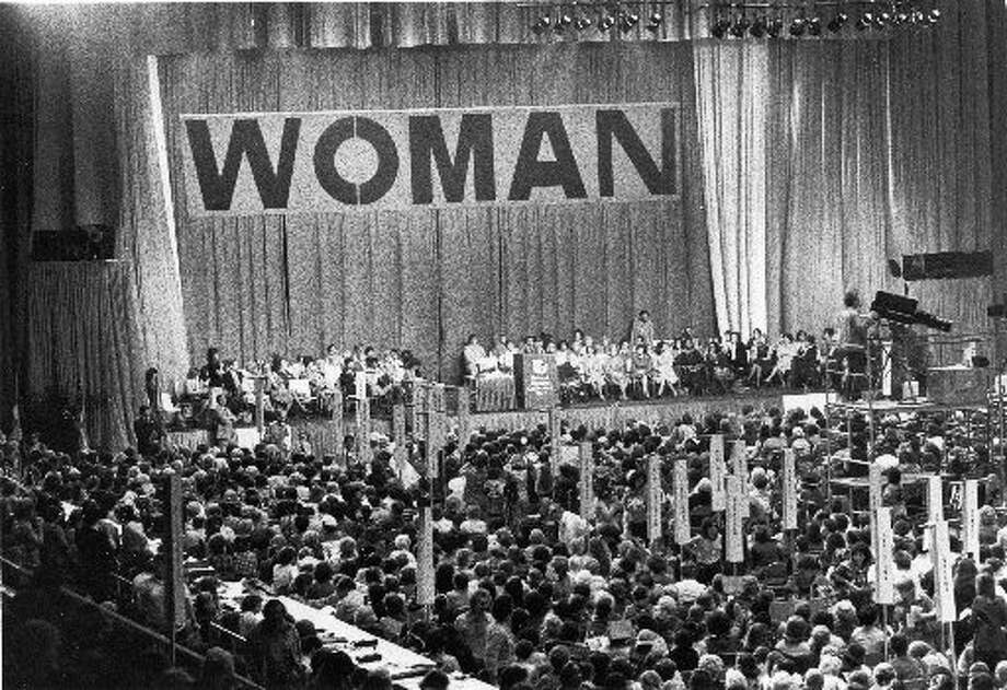 Thousands of U.S. women convened  in Houston for the 1977 National Women's Conference, the first and last of its kind.