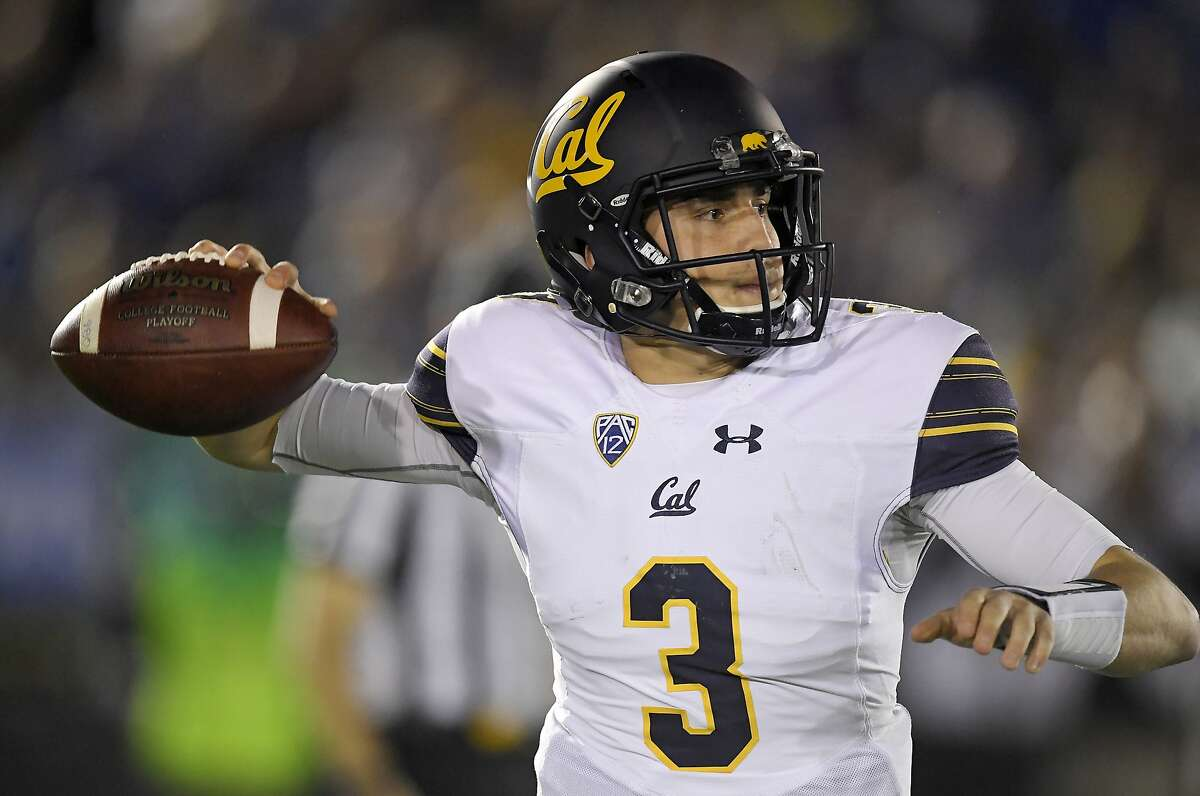 California quarterback Ross Bowers throws a pass during the first half of an NCAA college football game against UCLA, Friday, Nov. 24, 2017, in Los Angeles. (AP Photo/Mark J. Terrill)