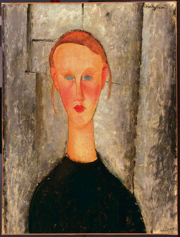 "Italian artist Amedio Modigliani painted ""girl with Blue Eyes"" in 1918. Marion Koogler McNay purchased the piece in 1946. It was part of her bequest to the museum that bears her name. Photo: Courtesy Of The McNay Art Museum"