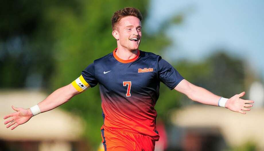 Greenwich High School graduate Patrick Santini was recently named the Centennial Conference Player of the Year after leading the Gettysburg College men's soccer team in scoring this season. Photo: Contributed Photo / Greenwich Time Contributed